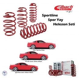 Ford Focus II Sedan 2005-2010 Spor Yay Helezon Eibach Sportline-Ön 45/50, Arka 30mm
